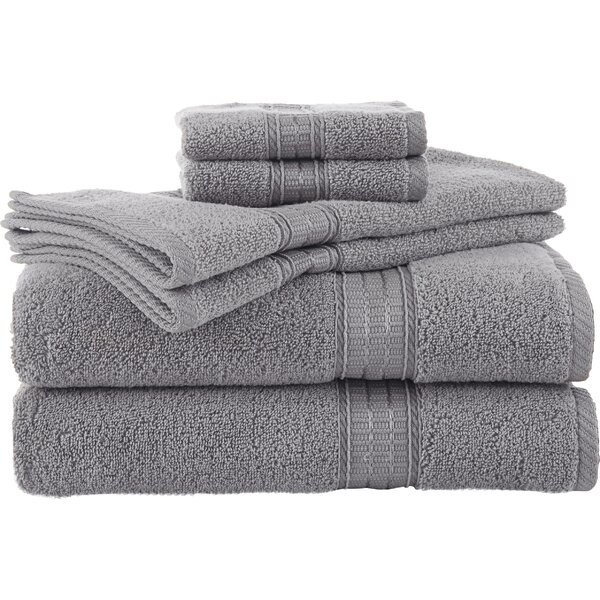 Staybright 6 Piece 100% Cotton Towel Set by Martex